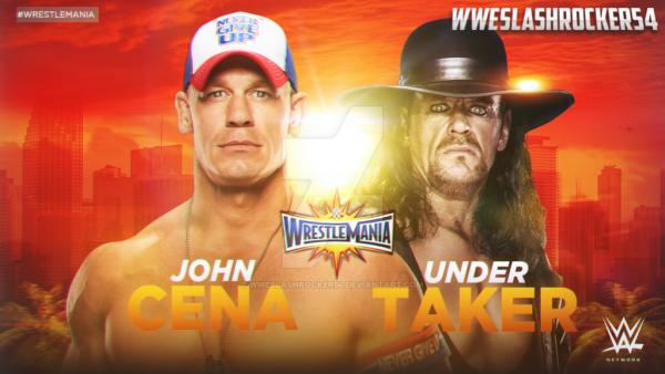 Wresltemania 33. The Undertaker v John Cena ?