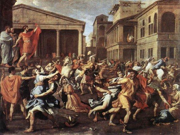 Etude d un de ses tableau l 39 enl vement des sabines circa 1637 huile sur - Enlevement encombrants paris ...