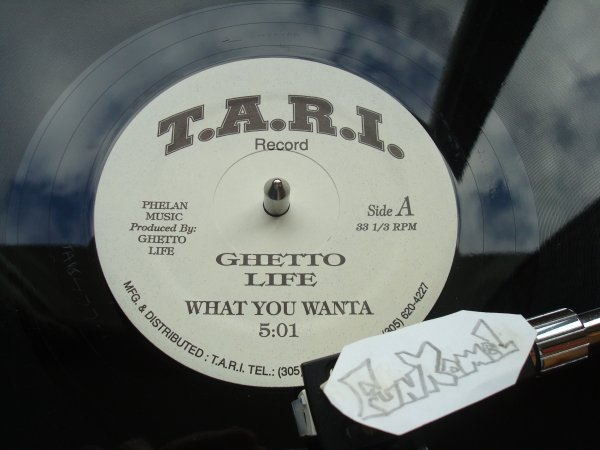 "GHETTO LIFE  ""what you wanta"" 12"" .......... EXCELLENT!"