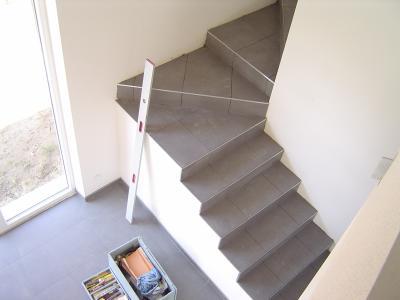 Carrelage de l 39 escalier notre reve notre projet for Nez de marche carrelage escalier