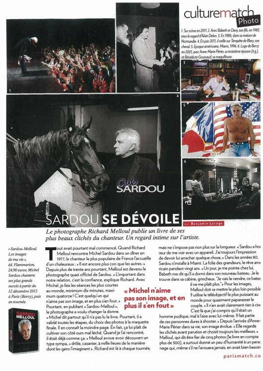 22 d�cembre 2011 - Article paru dans PARIS MATCH