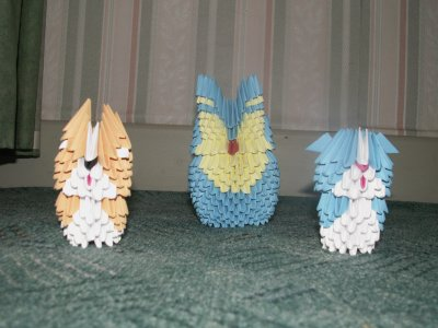Origami 3d hiboux et autres animaux ou objets sculture - Origami 3d animaux ...