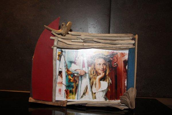 Cadre photo avec bois flott�