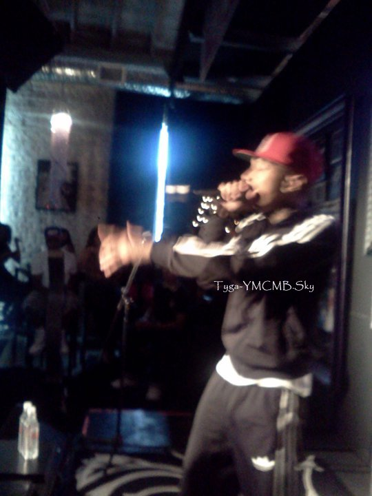 Tyga & Fans At Samuel's Diamond Lounge At Texas