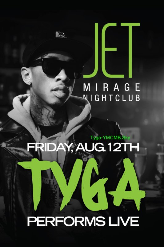 RDV Tyga at Club Mirage
