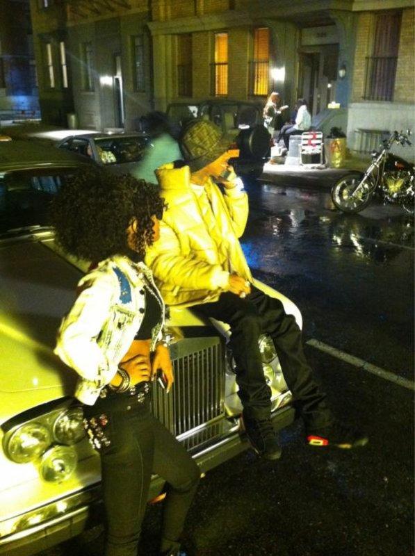 "Teyana Taylor and Tyga on the Set of ""Still Got It"""