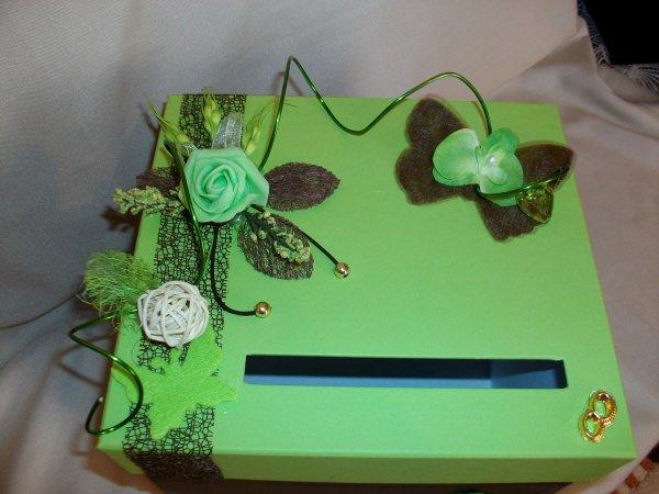 Urne de mariage marron et vert anis la copie n 39 est pas un art juste le fruit - Chambre vert anis et marron ...