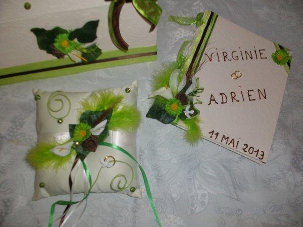 Urne mariage ivoire vert anis la copie n 39 est pas un art - Vert anis marron ...