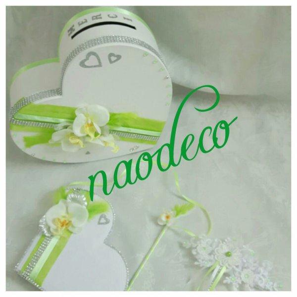 urne coeur mariage blanche et vert la copie n 39 est pas un art juste le fruit. Black Bedroom Furniture Sets. Home Design Ideas