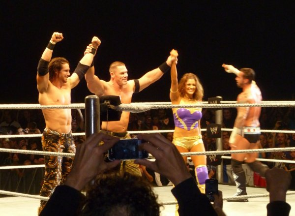 CM Punk, John Cena, John Morrison, The Miz & Eve Torres