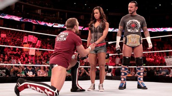 Cm Punk, AJ & Daniel Bryan