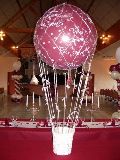 Voici un exemple de décoration ballon comme la Mongolfière.
