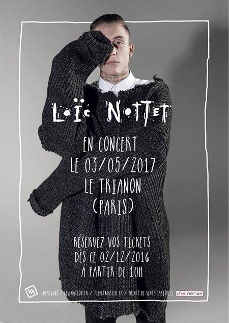 Loïc Nottet en concert au Trianon à Paris le 3 mai 2017