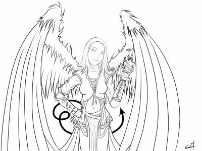 Un autre dessin d 39 un ange beaucoup d 39 anges et de - Dessin d ange ...