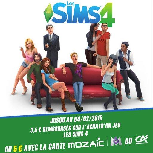 Jusqu'à 5¤ remboursés sur les Sims 4 avec l'appli Skyrock Cashback !
