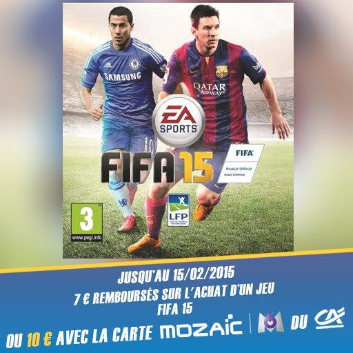 Fais toi rembourser jusqu'à 10¤ sur le jeu FIFA 15 avec l'appli Skyrock Cashback !