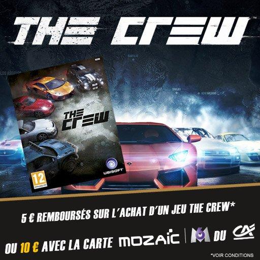R�cup�re jusqu'� 10� sur ton achat de The Crew sur PS4 !