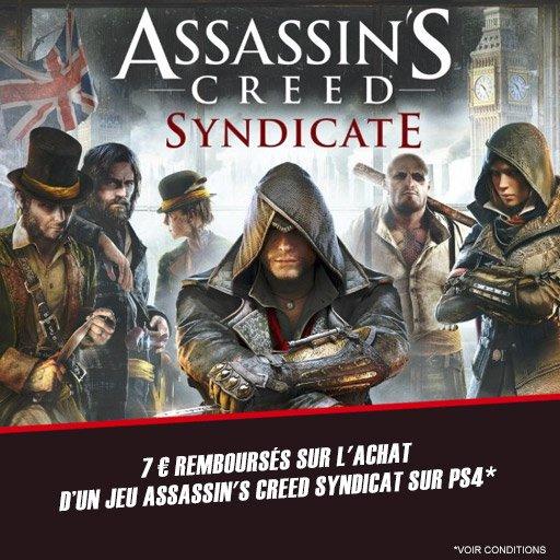 Remboursement de 7� sur le jeu Assasin's Creed Syndicate pour PS4 !
