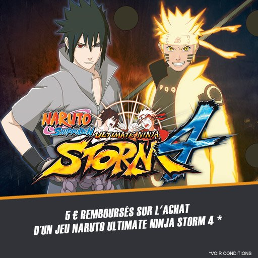 5¤ remboursés sur le jeu Naruto Ultimate Ninja Storm 4 !