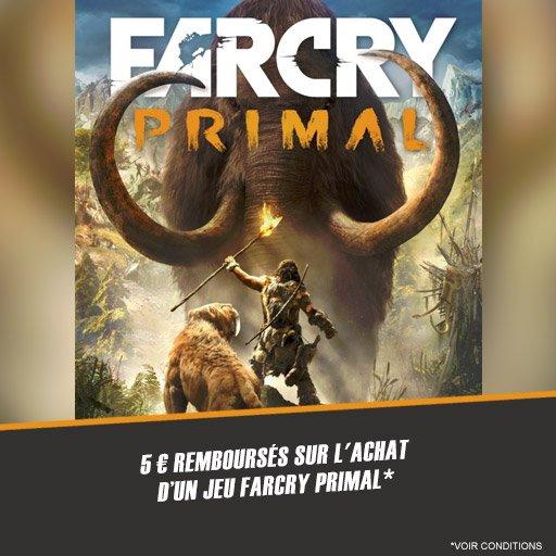 Profite de 5� rembours�s sur le jeu Far Cry Primal !