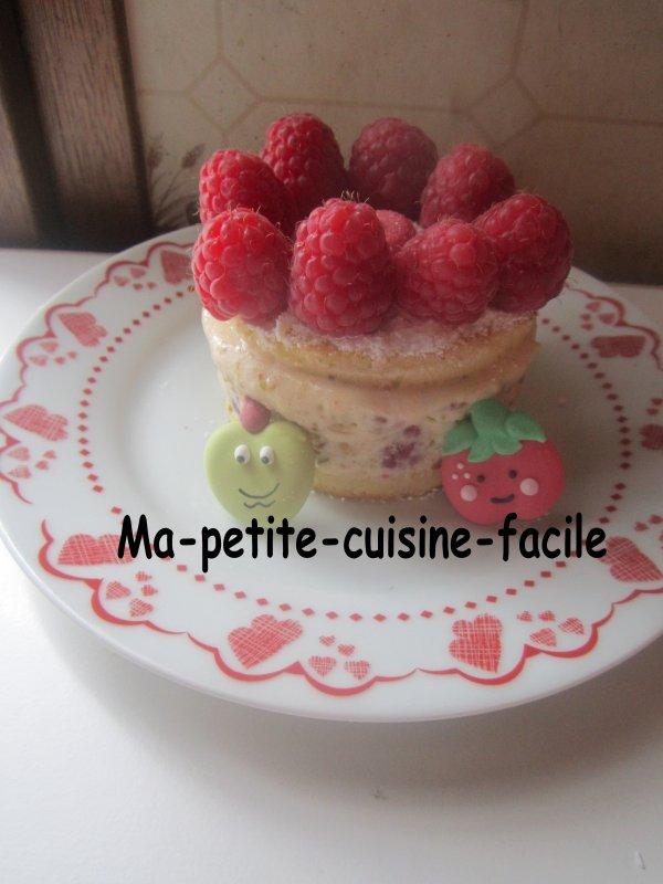 Framboisier et mousse de nougat ma petite cuisine facile for Ma cuisine petit chef
