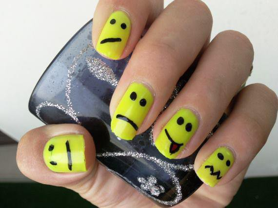Vernis smiley - Idee ongles vernis facile ...