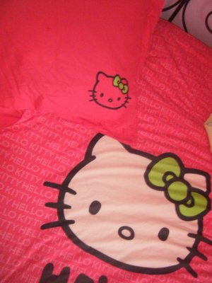 housse de couette et taie Hello kitty Carrefour