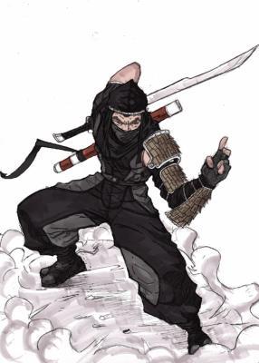 Un vrai ninja vachement bien dessiner l 39 amour ne - Dessiner un ninja ...