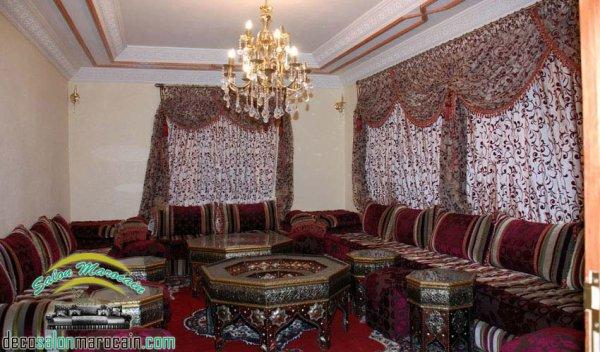 D coration salon traditionnel tunisien for Decoration maison normande traditionnelle