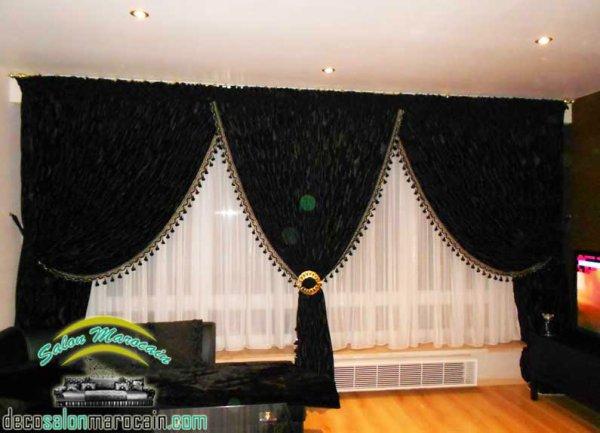 articles de salons marocain tagg s rideaux top salons morocain decoration moderne. Black Bedroom Furniture Sets. Home Design Ideas