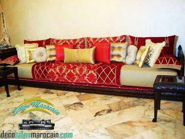 blog de salons marocain page top morocain decoration - Canape Marocain Rouge