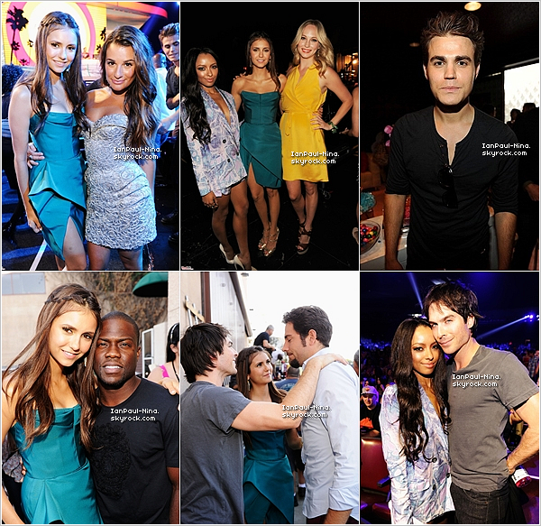 .  Le 22 Juillet 2012 Nina, Ian, Paul et le cast de Vampire Diaries �taient pr�sents aux ''Teen Choice Awards 2012''..