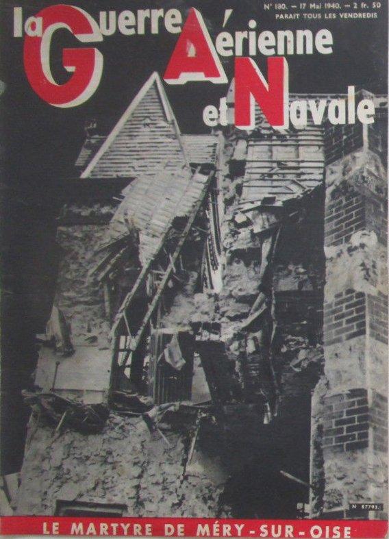 Bombardement de la Luftwaffe et une villa de M�ry sur Oise apr�s le bombardement Allemand du 10 Mai 1940
