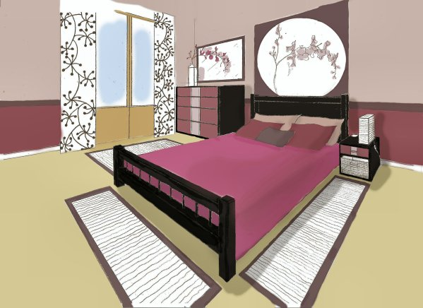 Stunning Chambre En Perspective Frontale Contemporary - lalawgroup ...