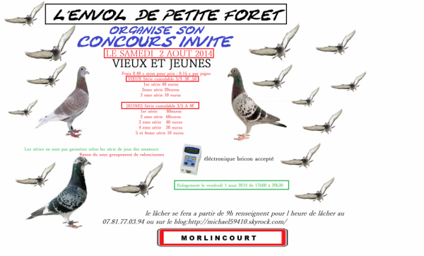 Concours invit de l 39 envole de petite foret le 2 aout 2014 - Meteo petite foret ...