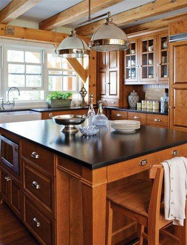 cuisine chalet bella image qui vient avec la fiction. Black Bedroom Furniture Sets. Home Design Ideas