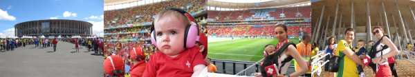 D�placement � Brasilia, Suisse - Equateur, 15.06.2014, Coupe du Monde 2014