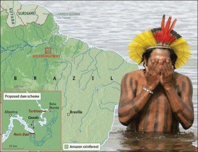 Le 8 Fevrier 2011, dix chefs ethniques du bassin du Xingu