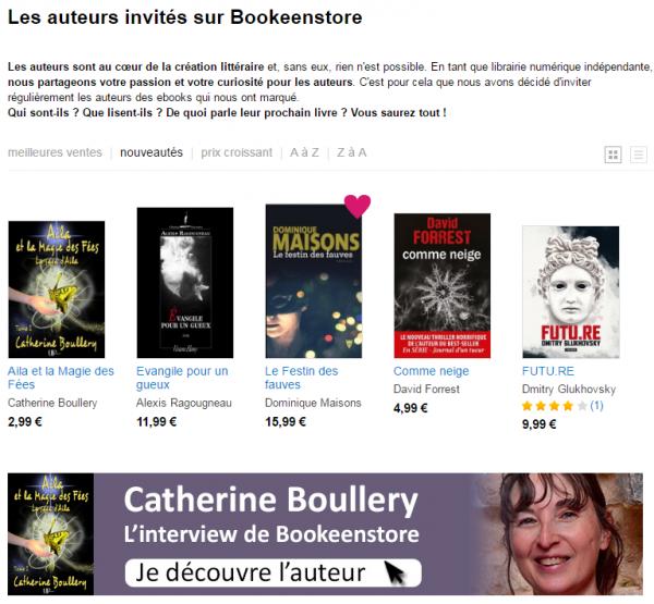 Catherine Boullery fait la une de Bookeen Store avec sa saga de fantasy