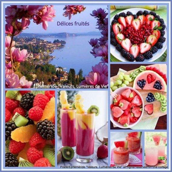BON DIMANCHE  avec ses petits desserts.  FRUIT�S.    tr�s rafra�chissant ..