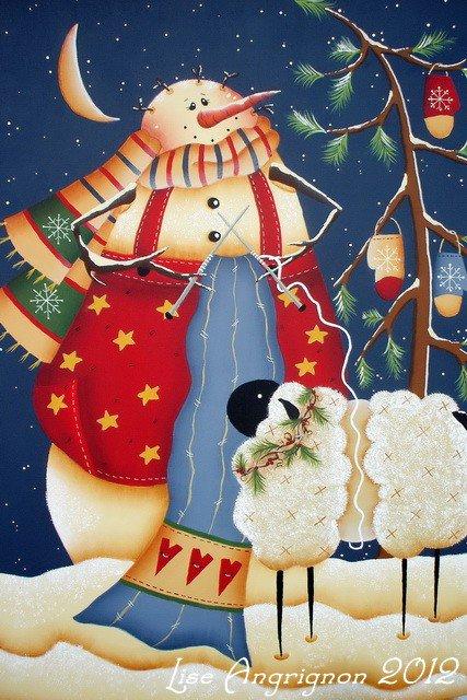 Le bonhomme de neige de mon amie Lise...