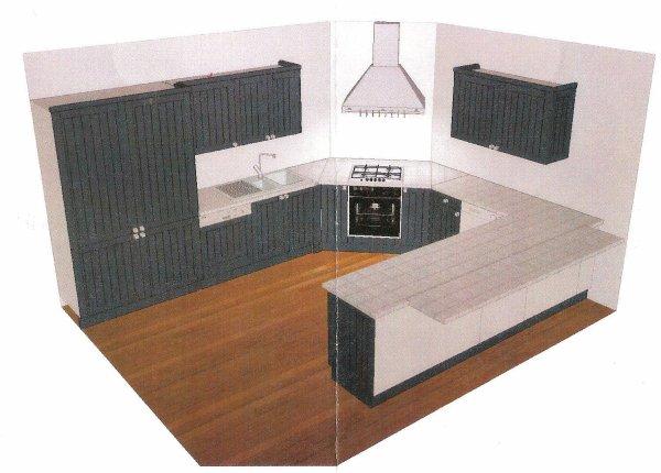 Plan en 3d de ma cusine modele londre de confo for Plan cuisine u 3d