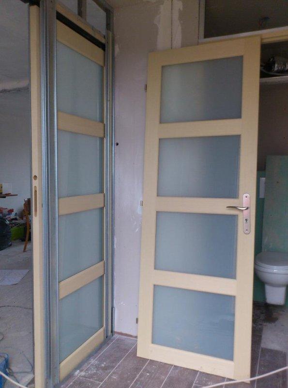 La pose de la porte a galandage le blog - Pose de porte coulissante a galandage ...