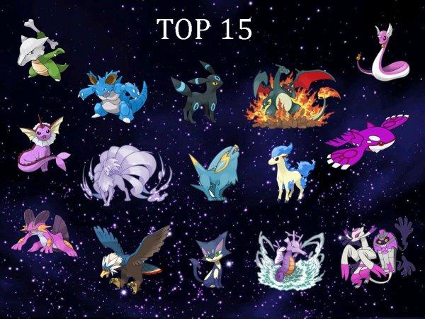 Top 15 de mes shinies pr�f�r�s
