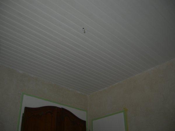 peinture lambris, plafond laquer blanc - renovation en tout genre