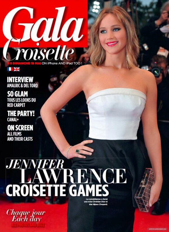 jennifer fait la couverture du magazine gala croisette. Black Bedroom Furniture Sets. Home Design Ideas