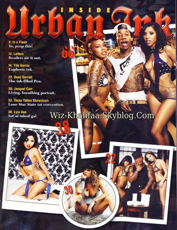 "WIZ KHALIFA COUVERTURE DE "" URBAN INK """