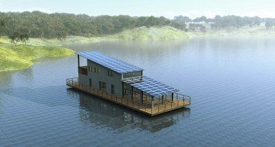 village flottant durable gite sur l 39 eau hotel flottant maison flottante bungalow flottant. Black Bedroom Furniture Sets. Home Design Ideas