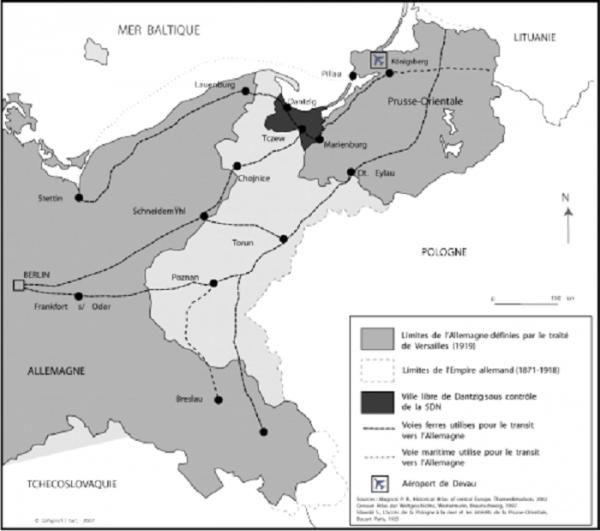L'�tincelle qui enflama l'Europe et bient�t le monde : Le couloir de Dantzig