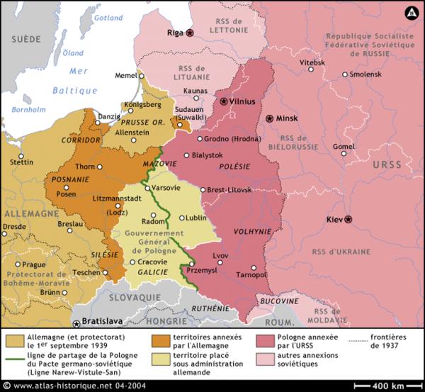 """La campagne de Pologne """" op�ration Fall Weiss """" 1er septembre 1939"""